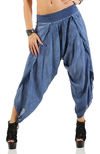 Damen Harem Aladin Pump Hose Hosenrock (No 540), Blau