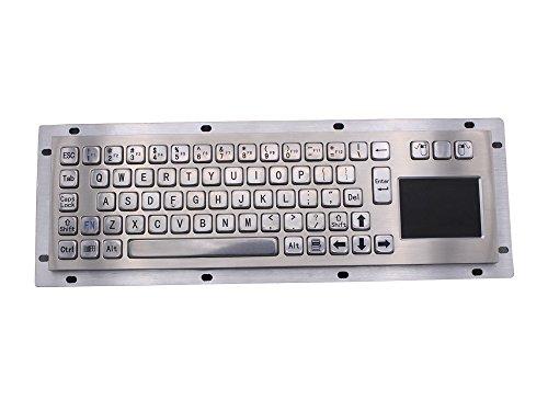 Teclado de quiosco USB de acero inoxidable IP65 con panel táctil de metal industrial para la máquina expendedora de billetes mini teclado metálico