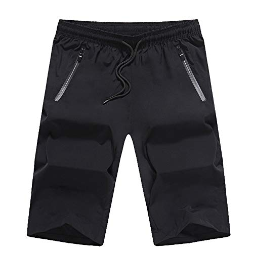 Cycling Shorts Men's Water Repellent Baggy Cycling Shorts Outdoor Sports Leisure Bottoms Men's Bicycle Shorts Breathable Bicycle Riding Pants (Color : Black, Size : XXL)