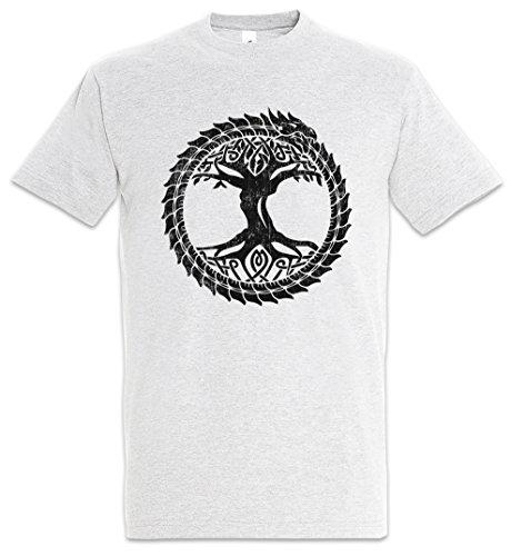 Urban Backwoods Ouroboros Yggdrasil Camiseta De Hombre T-Shirt Gris Talla L