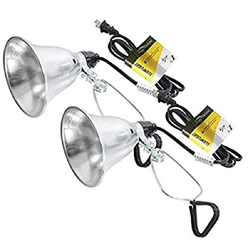 Simple Deluxe HIWKLTCLAMPLIGHTSX2 2-Pack Clamp Lamp Light with 5.5 Inch Aluminum Reflector up to 60 Watt E26 (no Bulb Included) 6 Feet 18/2 SPT-2 Cord, Silver