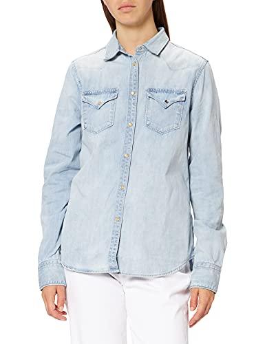 REPLAY W2001 Camisa, 010 Azul Claro, XS para Mujer