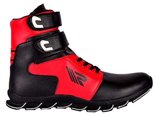 Ryko Men's Red & Black Casual Shoes -8 UK