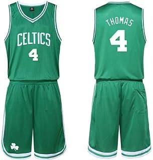 Green NBA Boston Celtics #4 Isaiah Thomas Professional Basketball Uniforms Sleeveless Sports Vests Match Uniforms,Green,M