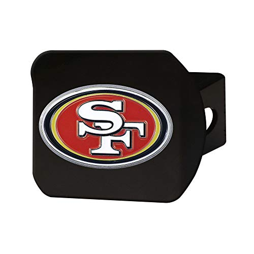 FANMATS 22610 NFL San Francisco 49ers Metal Hitch Cover Black 2quot Square Type III Hitch CoverRed