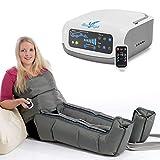 Vein Angel 4 Premium apparecchio per massaggi con fascia addominale & gambali, 4 camere d'aria disattivabili, pressione & durata regolabili, 3 programmi, no pressoterapia