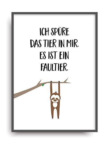 ALEMARG Moderner Vintage Poster Druck Tier IN Mir Fine Art Kunstdruck Deko Bild Print Plakat ungerahmt DIN A4 Geschenk