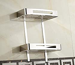Elegant Towel Stand Bathroom Supplies Toilet-Bathroom Quadrangle Silver Bathroom Shelves pet Shampoo Shower Cosmetic Stora...