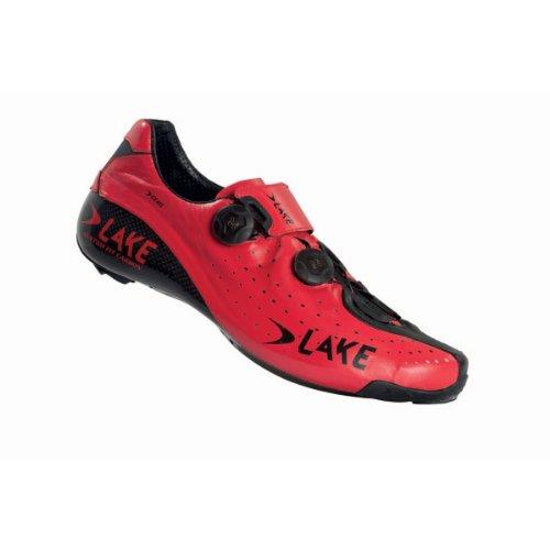Lake Rennradschuh CX402 Herren rot/schwarz 43,5