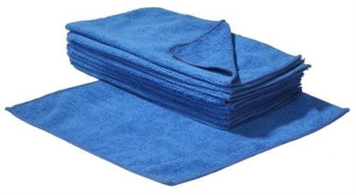 SBS Mikrofasertücher | 30 x 30 cm | 100 Stück | blau | Microfasertuch Mikrofaser Tuch Microfasertücher