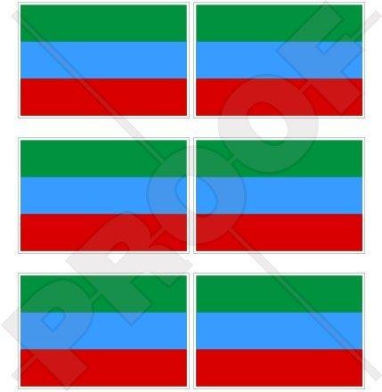République du Daguestan Drapeau, Daghestan Russie, Russe Fédéral sujet 40 mm (40,6 cm) Mobile, Téléphone portable, mini en vinyle autocollants, Stickers x6