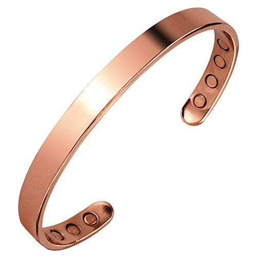 Earth Therapy Women's Pure Copper Magnetic Healing Bracelet for Arthritis, Carpal Tunnel, and Joint Pain Relief