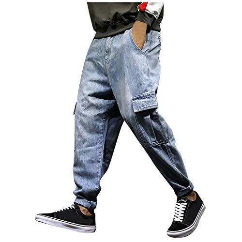 Briskorry harem jeans herren baggy regular fit jogg harem rock joker stylische Jogginghose groß Größen Hose Latzhose Lockere Lange High Waist Comfort Freizeithose hiphop jeans