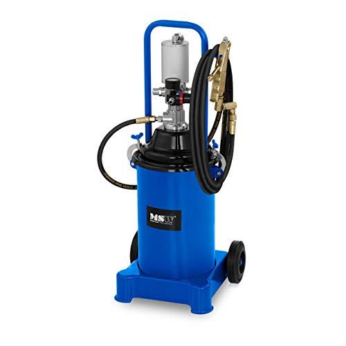 MSW Engrasadora Neumática para Taller Pro-G 12M (Volumen 12 litros, Presión De Trabajo 6-8 Bar, Presión De La Bomba 300-400 Bar)