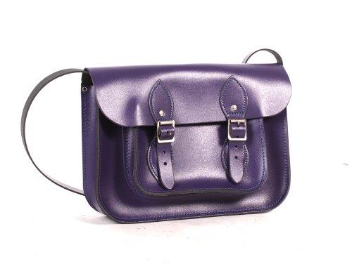 Leather Satchel's, Cartable mixte adulte violet
