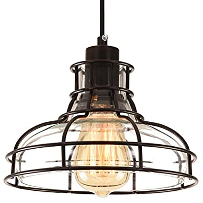 PAPAYA Retro Chandelier Industrial Iron Pendant Lighting Ceiling fixtures cage Concise Ceiling Light for Kitchen Island
