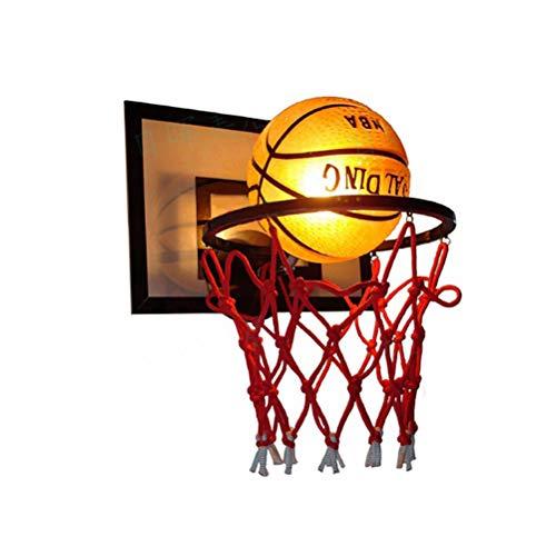 Kinderzimmer Wandleuchte Kreative Basketball Esszimmer Beleuchtung Innen Wandlampe Modern Dekoration Wandbeleuchtung Glas Lampeschirm E27 Fassung für Wohnzimmer Jungen Mädchen Schlafzimmer