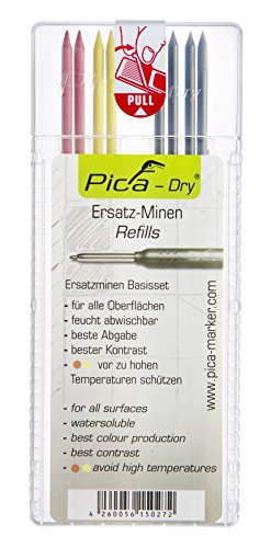 Pica Dry Pencil Refills Set, 4020, Assorted Colors