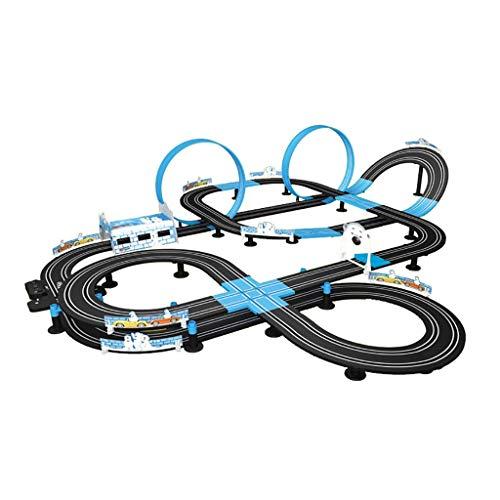 WLGQ 360 Grados;Pista Circular para niños, Pista atlética, Doble ensamblado, Pista de...
