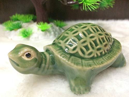 Keramische schildpad aquarium Feng Shui keramiek ambachten meubels Home Animal ornamenten tuin met landschap Micro landschap nieuwe, 4 inch
