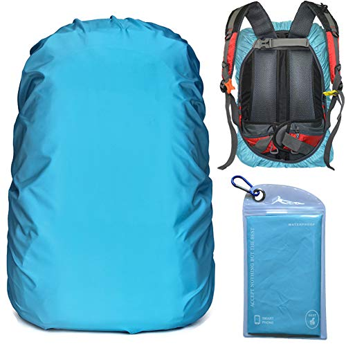 Evotopf Waterproof Backpack Rain Cover with Adjustable Anti Slip Buckle Strap & Sliver Coating...