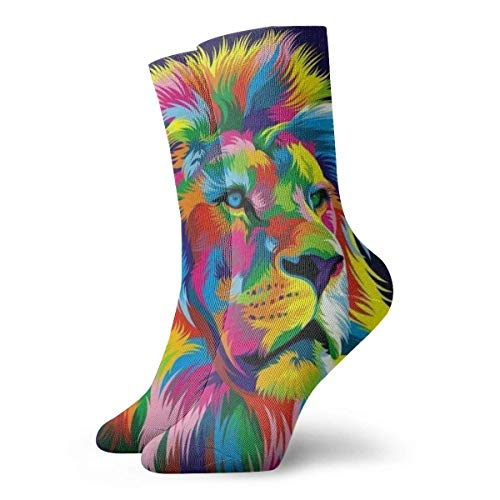 FETEAM Calcetines altos con amortiguación en el tobillo Calcetines deportivos casuales Rey León