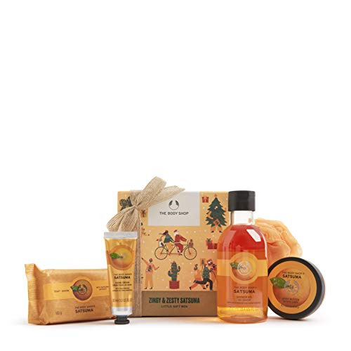 The Body Shop Zingy & Zesty Satsuma- 5pc Small Gift Set With Fruity Care Treats, 11.15 Fl Oz