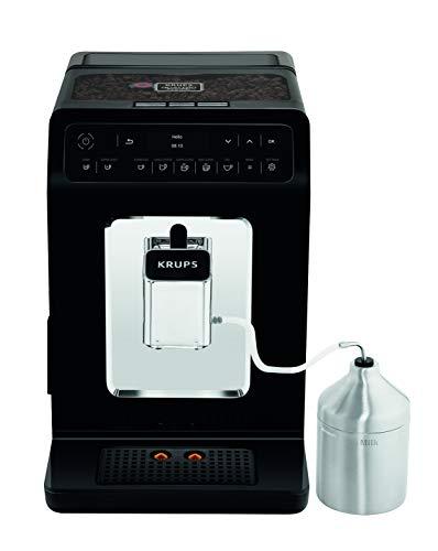 KRUPS Evidence Machine à café à grain Machine à café broyeur grain Cafetière expresso Cappuccino Espresso 15 boissons 2 tasses simultané Pot à lait YY3071FD