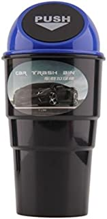 Automotive Cup Holder Garbage Can Trash Bin (Blue)