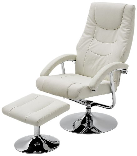 Robas Lund Comfort Chair Florida Nero/Cromo Bianco 65 x 70 x 103 cm