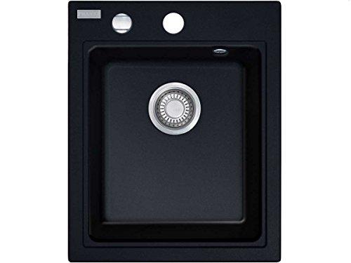 Franke Maris MRG 610-42 Fragranite DuraKleenPlus 1140176607 - Fregadero, 1 cubeta, color negro