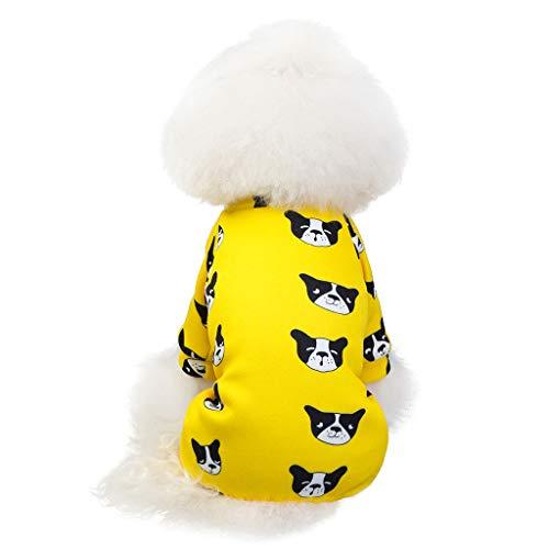 Cuteelf Pet Kleidung neues Haustier Vier Beine Pyjamas Mantel Herbst und Winter warme Katze Hundebekleidung Hund niedlich Bequeme Pyjamas nach Hause warm kalt