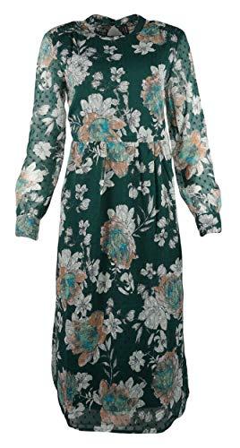 VERO MODA Damen Kleid VMMAISE Calf Dress Langarmkleid Blusenkleid, Größe:XS