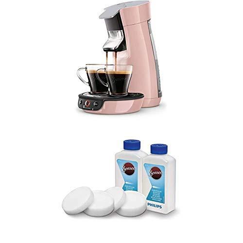 Philips Senseo Viva Cafe HD6563/00 Kaffeepadmaschine (Crema plus, Kaffee-Stärkeeinstellung) rosa, mit Flüssigentkalker