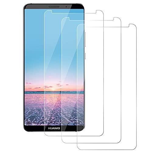 DOSMUNG Protector de Pantalla para Huawei Mate 10 Pro, [3 Pack] Cristal Templado, Alta Definicion/9H Dureza/Anti Arañazos/Sin Burbujas Vidrio Templado Película para Huawei Mate 10 Pro