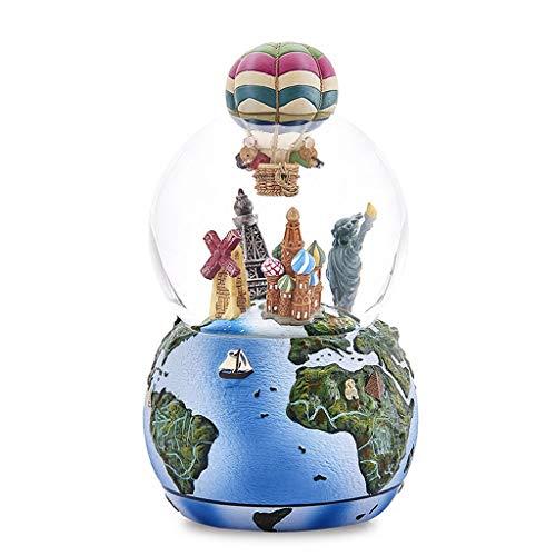 ZRJ Caja de música para niños, caja de música con bola de cristal, ideal para cumpleaños, Navidad, día de San Valentín, regalo de moda