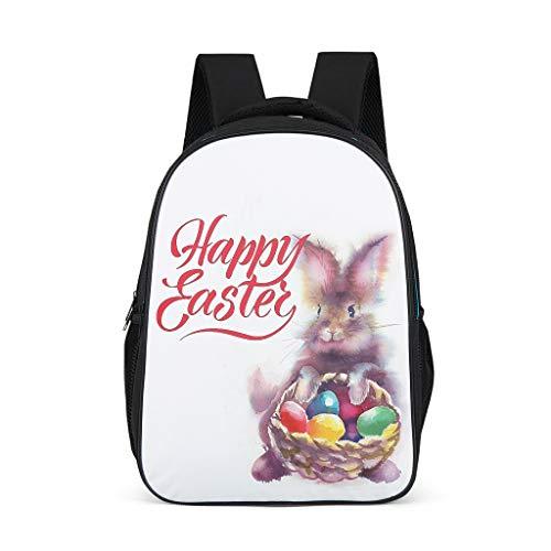 O2ECH-8 Daypacks Easter Rabbit Schooltas quad, rugzak jongens - rugzak baby meisjes rugzak schoolrugzak