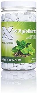 XyloBurst 100% Xylitol Gum, Green Tea Gum, 500 Count Jar, Natural Chewing Gum, Non GMO, Vegan, Aspartame Fr...