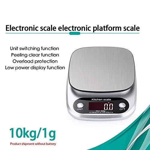 Keuken Thuis Multifunctionele Weegschalen LCD Elektronische Keukenweegschaal Zeer Nauwkeurige Voedselweegschaal Huishoudelijke Balans Koken Roestvrij Staal Digitale Weegschaal-3Kg_0.1G