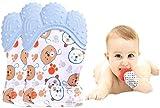 Efforts Funky Baby dentición Manoplas Protege Manos Bebés Pain Relief Tranquilizadora de Edad Silicona Flexible SIN BPA Adecuado para Bebés en Fase de Dentición(2Pcs)