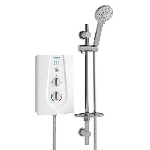 Bristan JOYT395 W 9.5 kW Joy 3 Thermostatic Electric Shower - White