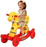 CLASSIC GIFT GALLERY 2 in 1 Non Battery Operated Ride on Wagons Baby Horse Rider Rocker for Kids...