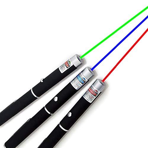 Puntero de Mira Láser 5MW de Alta Potencia Verde Azul Rojo Punto Bolígrafo Láser Potente Medidor Láser Lápiz Láser(Verde) ⭐