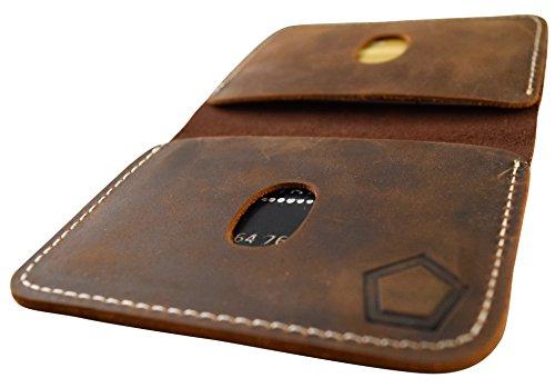 tough wallets KNOXX Wallets - Slim Leather Minimalist Men's Tough Wallet or Cardholder Brown - Handmade
