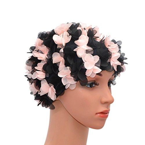 medifier encaje Vintage gorro de ba�o floral petal Retro estilo gorros de ba�o para las mujeres,...