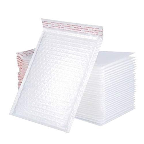 Tomaibaby 50 Piezas de Correo de Burbujas de Polietileno Sobres Acolchados Impermeables Bolsas de Envío Bolsa de Embalaje Boutique a Prueba de Golpes para Bolsa de Plástico de Burbujas