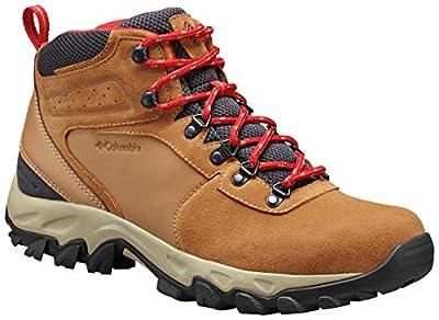 Columbia Men's Newton Ridge Plus II Suede Waterproof Boot, Breathable with High-Traction Grip Hiking, elk, mountain red, 7 Regular US