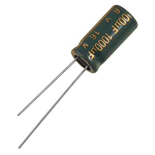 Condensador electrolitico - TOOGOO(R) 10 piezas condensadores electroliticos de aluminio de plomo polarizado de 1000uF 16V