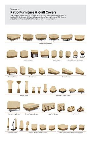 Classic Accessories Patio-Heizpilz-Abdeckung für die Terrasse, Kiesel, Passend für Heizpilze bis zu 86,36 cm Kuppel und 46,99 cm Boden - 5
