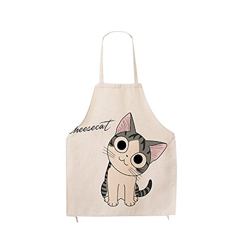 G2PLUS Baumwolle Karikatur Schürze Süße Muster Küchenschürze Modische Kochschürze Großes Geschenk für Kinder und Damen